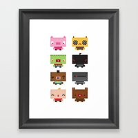 Boxies Framed Art Print