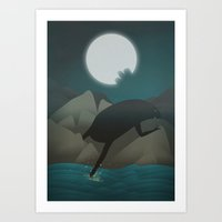3 Bites Of Moon (What Ma… Art Print