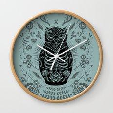 Owl Nesting Doll (Matryoshka) Wall Clock