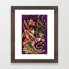 Mentalice and the Queen of heart Framed Art Print