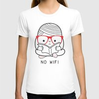 No Wifi Womens Fitted Tee White SMALL