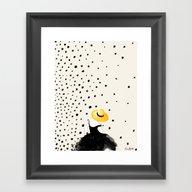 Polka Rain II Framed Art Print