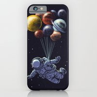 iPhone Cases featuring Space travel by carbine
