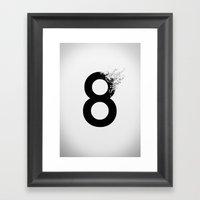 8_ Framed Art Print