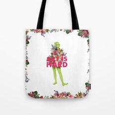 Art Is Hard - Flower Girl Tote Bag