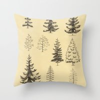 Pines And Spruces Throw Pillow