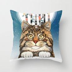 Feline Forest Throw Pillow