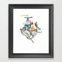 Rabbit On A Holiday Framed Art Print