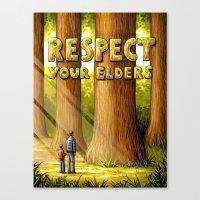 Respect Your Elders Canvas Print