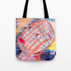 Plaid Head2 Tote Bag