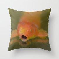 Gulp! Throw Pillow