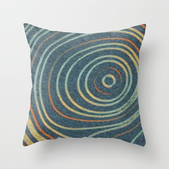 Curved Stripes Throw Pillow