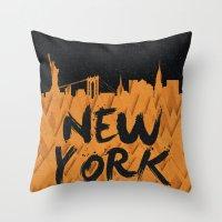 New York (Feat. Filipe R… Throw Pillow