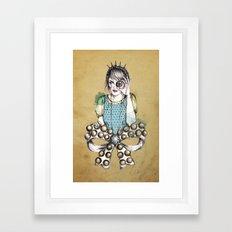 Through the Jewel Case Framed Art Print