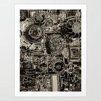 Electric Maze Art Print