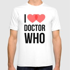 I ♥♥ Doctor Who Mens Fitted Tee White SMALL