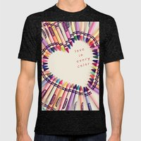 Love In Every Color Mens Fitted Tee Tri-Black SMALL
