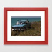 Car on the Coast Framed Art Print