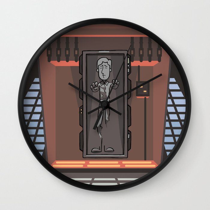 Ep6 han solo in carbonite wall clock by jason yang society6 - Han solo carbonite wall art ...