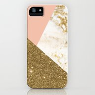 Gold Marble Collage iPhone (5, 5s) Slim Case