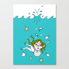 Dive In! Canvas Print