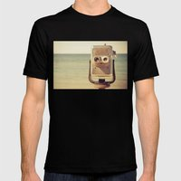 Robot Head Mens Fitted Tee Black SMALL
