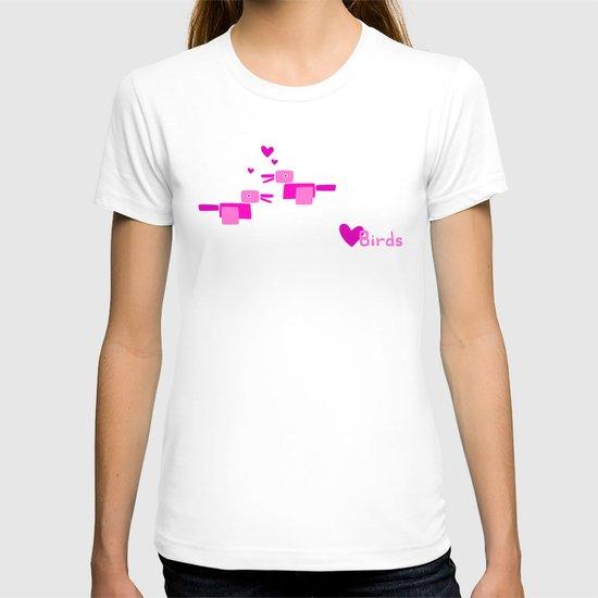 Love Birds-Pink T-shirt