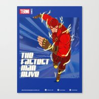 THE FASTEST MAN ALIVE Canvas Print