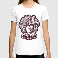 Erykah Badu Womens Fitted Tee White SMALL