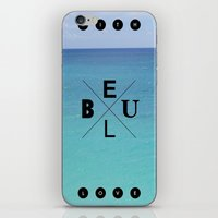 With Blue Love iPhone & iPod Skin
