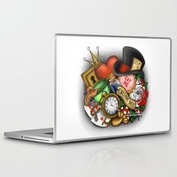 alice in wonderland Laptop & iPad Skins featuring Wonderland  by Katie Simpson a.k.a. Redhead-K