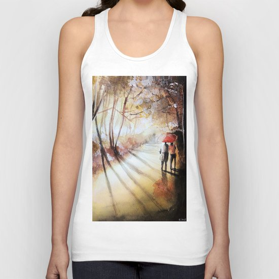 Break in the clouds - watercolor Unisex Tank Top