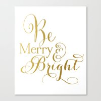 Be Merry & Bright Canvas Print