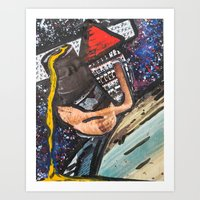 Triangle Man Says Hi  Art Print