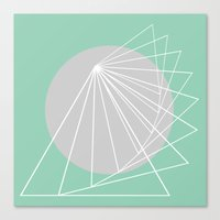 Everything belongs to geometry #5 Canvas Print