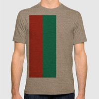 Flag of Bulgaria Mens Fitted Tee Tri-Coffee SMALL