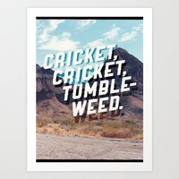 Cricket, Cricket, Tumble… Art Print