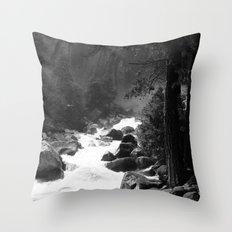Whiteout Yosemite-2 Throw Pillow