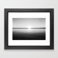 Sun Goes Down Framed Art Print