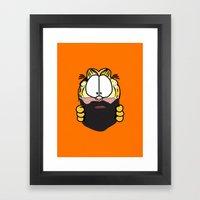 Garfield Cat Beard Framed Art Print