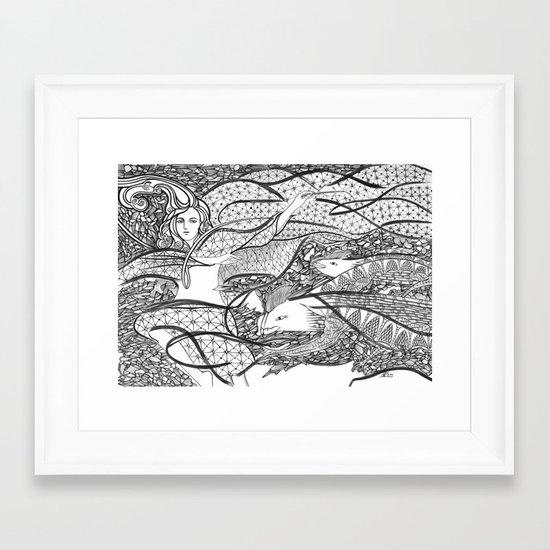 A Great Magician / Original A4 Illustration / Pen & Ink Framed Art Print