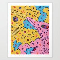 Rory and Lorelai Art Print