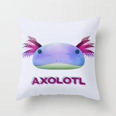 Axolotl Friend Throw Pillow