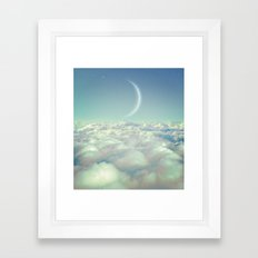 Dream Above The Clouds (Crescent Moon) Framed Art Print