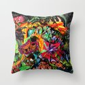 Just another day in the jungle Throw Pillow