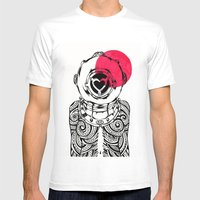 Yakuza Diver From Japan Mens Fitted Tee White SMALL