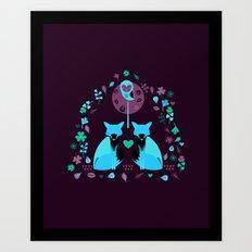 Fox Archway Art Print