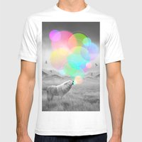The Echoes of Silence Mens Fitted Tee White SMALL