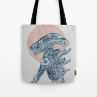 Tote Bag featuring Floral Alien by Marietoe