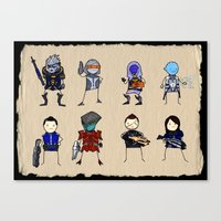 Mass Effect 3 Normandy Crew Canvas Print